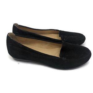 NATURALIZER Ladies Black Suede Flats 8.5 NWOT
